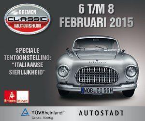 Italiaans erfgoed zal centraal staan op de Classic Motor Show in Bremen, die ook in de 2015 editie weer een grote verscheidenheid aan activiteiten en aanbod van klassieke auto's en motoren zal tonen.
