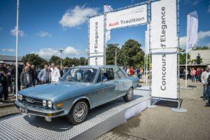 Het concours d'elegance vormt één van de hoogtepunten van Audi Tradition in Leusden. Afbeelding: Pon