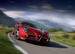De Alfa Romeo 8C is door de Nederlandse fan uitgeroepen tot de meest iconische Alfa Romeo uit de historie van het merk. Foto: Alfa Romeo