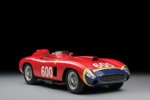De verwachte opbrengst voor de Ferrari 290 MM- speciaal gebouwd voor Fangio- bedraagt ruim 28 miljoen dollar. Afbeelding: Tim Scott/ RM Sotheby's