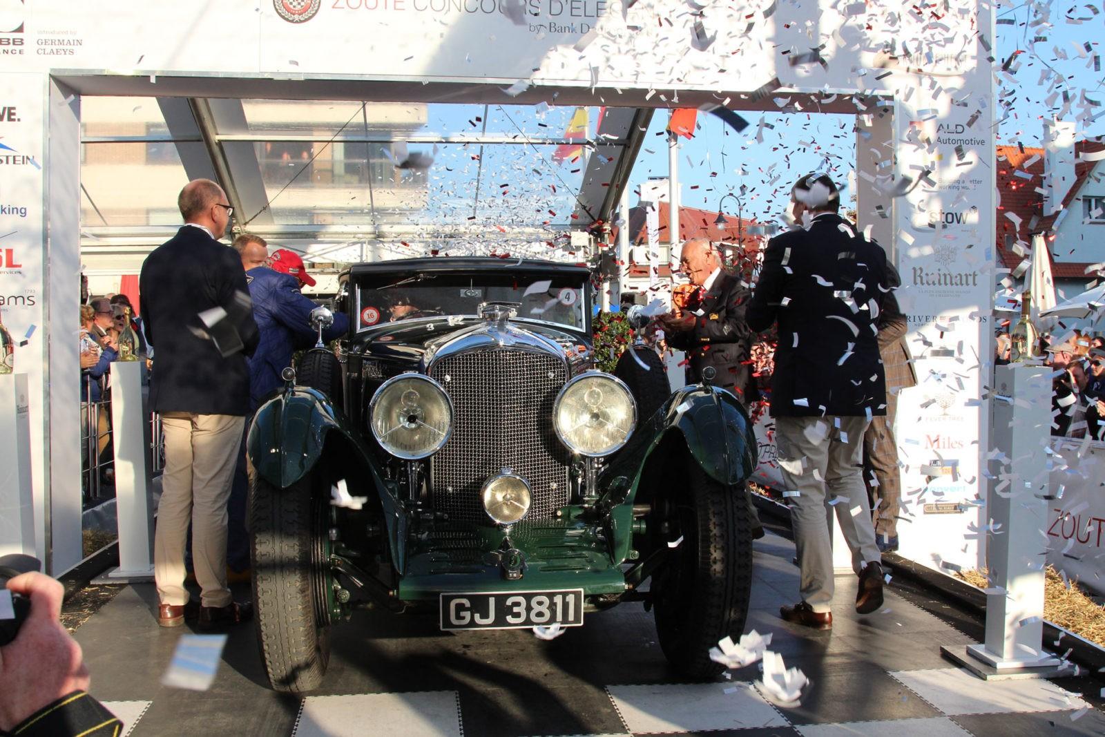 De Bentley Bleu Train als winnaar concours