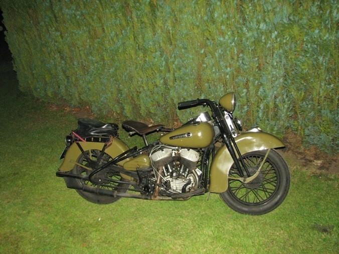 Een beurs voor oude Harley spullen