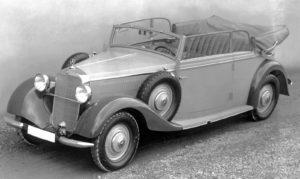 De Mercedes Benz 260 D was de eerste dieselauto die in Sindelfingen werd geproduceerd. Foto: media.daimler.com