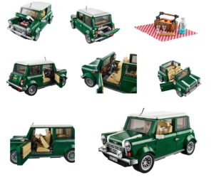 Prijzig, maar erg leuk. LEGO Creator brengt al enige tijd deze MINI Cooper als bouwpakket uit. Foto: LEGO