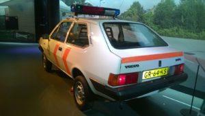 Nederlands erfgoed van een vaderlandse hulpdienst: de Volvo 343 L. Foto: Saskia van Putten