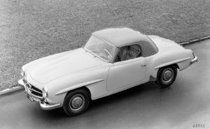 De 190 SL kon ook met een hardtop geleverd worden. Het door Catawiki geveilde exemplaar beschikt over een aluminium hardtop. Afbeelding: Daimler Benz AG
