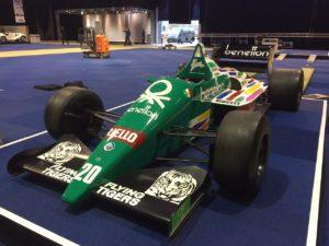De Benetton BMW B186 dankt zijn reputatie aan zijn enorme vermogenspotentieel. De Oostenrijkse F1-coureur Gerhard Berger won met deze bolide zijn eerste Grand Prix. De Benetton BMW B186 is te zien tijdens InterClassics in Maastricht. Afbeelding: InterClassics Maastricht