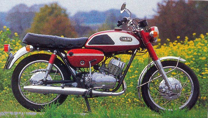 Een snelle Yamaha tweetakt
