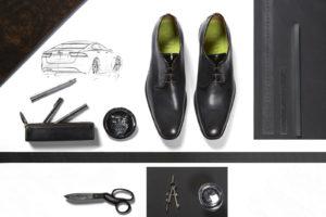 De in het afgelopen najaar gepresenteerde Whitley en Sayer collectie was één van de voortvloeisels uit de samenwerking tussen de schoenenfabrikant en Jaguar. ©Jaguar Landrover
