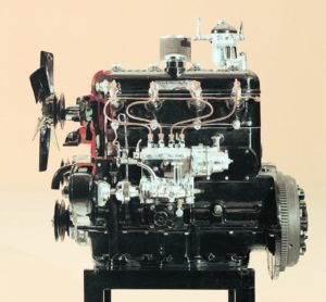 De OM 138 was de eerste dieselmotor welke in een personenwagen werd toegepast. Afbeelding: Daimler AG
