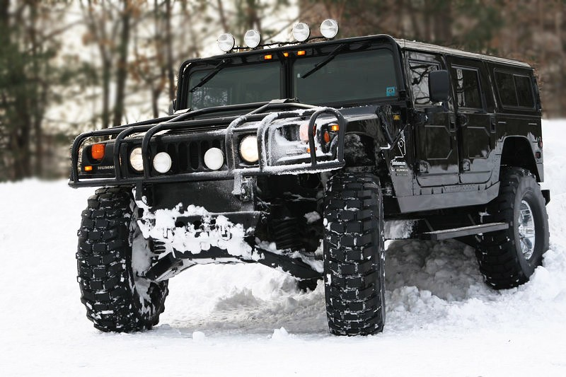 hummer in winter