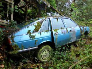Een verlaten Lancia Gamm