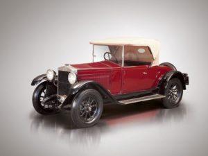 """Eén van de fraaie """"lots"""" uit de Quattroruote Collection: de Fiat 509 A Spider. Afbeelding: RM Sotheby's"""