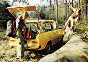 De DAF 46 werd ook als stationcar geleverd. Hij wordt als lifestyle-auto neergezet. Afbeelding: DAF en rechtsopvolgers
