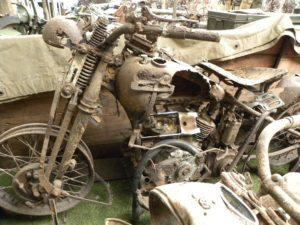 Verkeerd afgelopen: Een Harley WLA