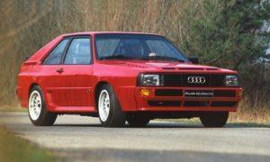 Eén van de modellen waar een vijfcilinder motor van Audi zijn weg in vond: de Sport Quattro. Afbeelding: Audi