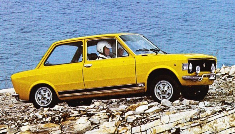 Markante verschijning, veel sportieve trekken en typische kenmerken. De Fiat 128 rally was onmiddellijk als zodanig herkenbaar. Afbeelding: Fiat