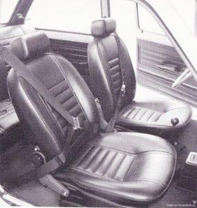 Sober en sportief gingen uitstekend samen binnen het Fiat 128 rally interieur. Afbeelding: Fiat