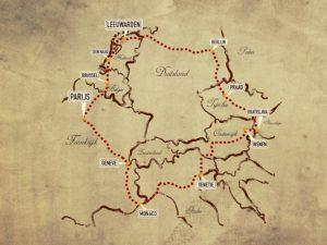 De route leidt langs prachtige steden en door fraaie gebieden in Europa. Afbeelding: Amazon Adventures