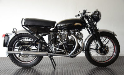 """The D Series was the last and ultimate development of the Black Shadow. However, manufacturing the engine turned out to be too expensive, so production only lasted 6 for months and Vincent decided to stop making engines in 1955 ''. Ultimately, only 144 of these ultimate Black Shadows were made. The engine in the auction is also completely factory original and that makes it even more valuable. The expected yield of the Vincent is between the 110.000 and 145.000 euros."