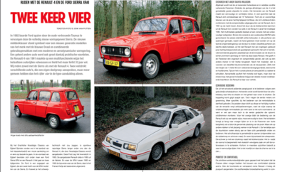 Renault 4 vs Ford Sierra XR4i