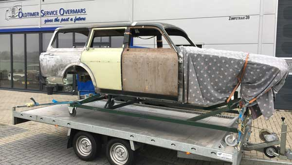 Restauratie body Volvo Amazon combi gereed