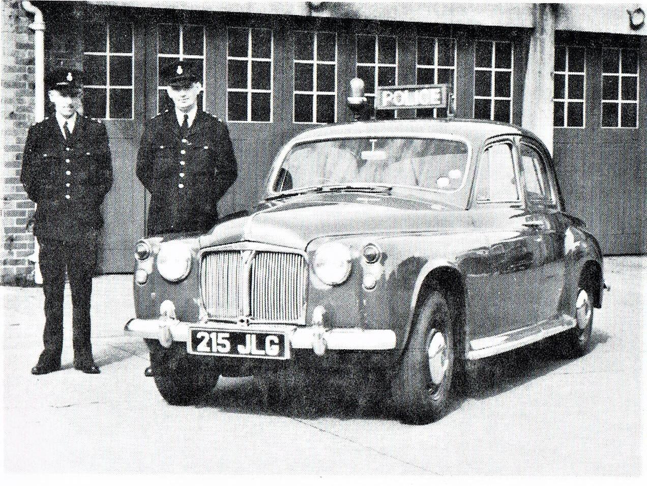 De Rover P4, ook als politie auto