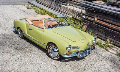 Volkswagen Karmann Ghia mit drei Vierteln Vorsprung