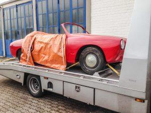 Volkswagen Karmann Ghia restauratie begin
