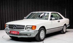 Mercedes-Benz 500SEC zij voorkant