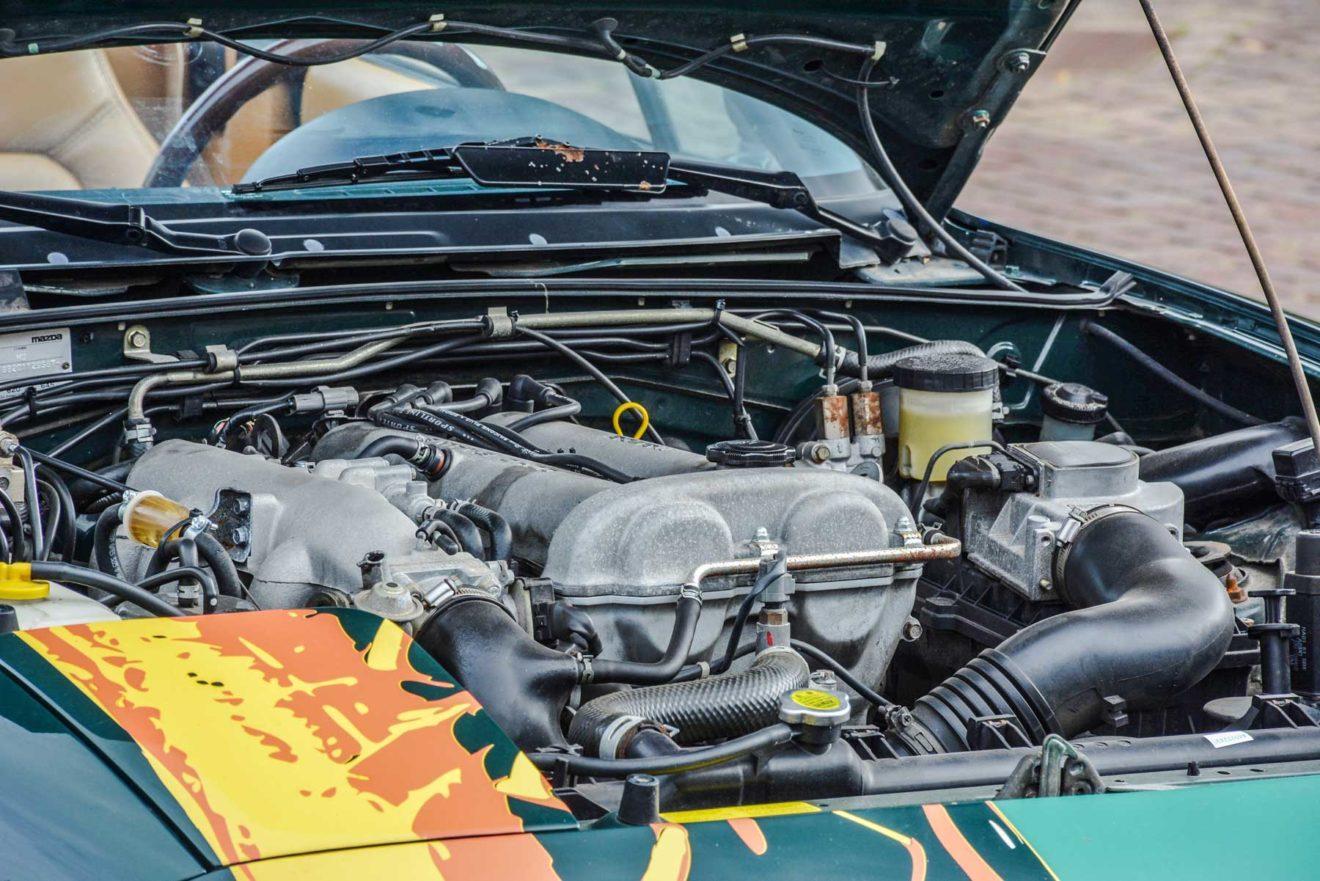 Mazda MX-5 motorruimte