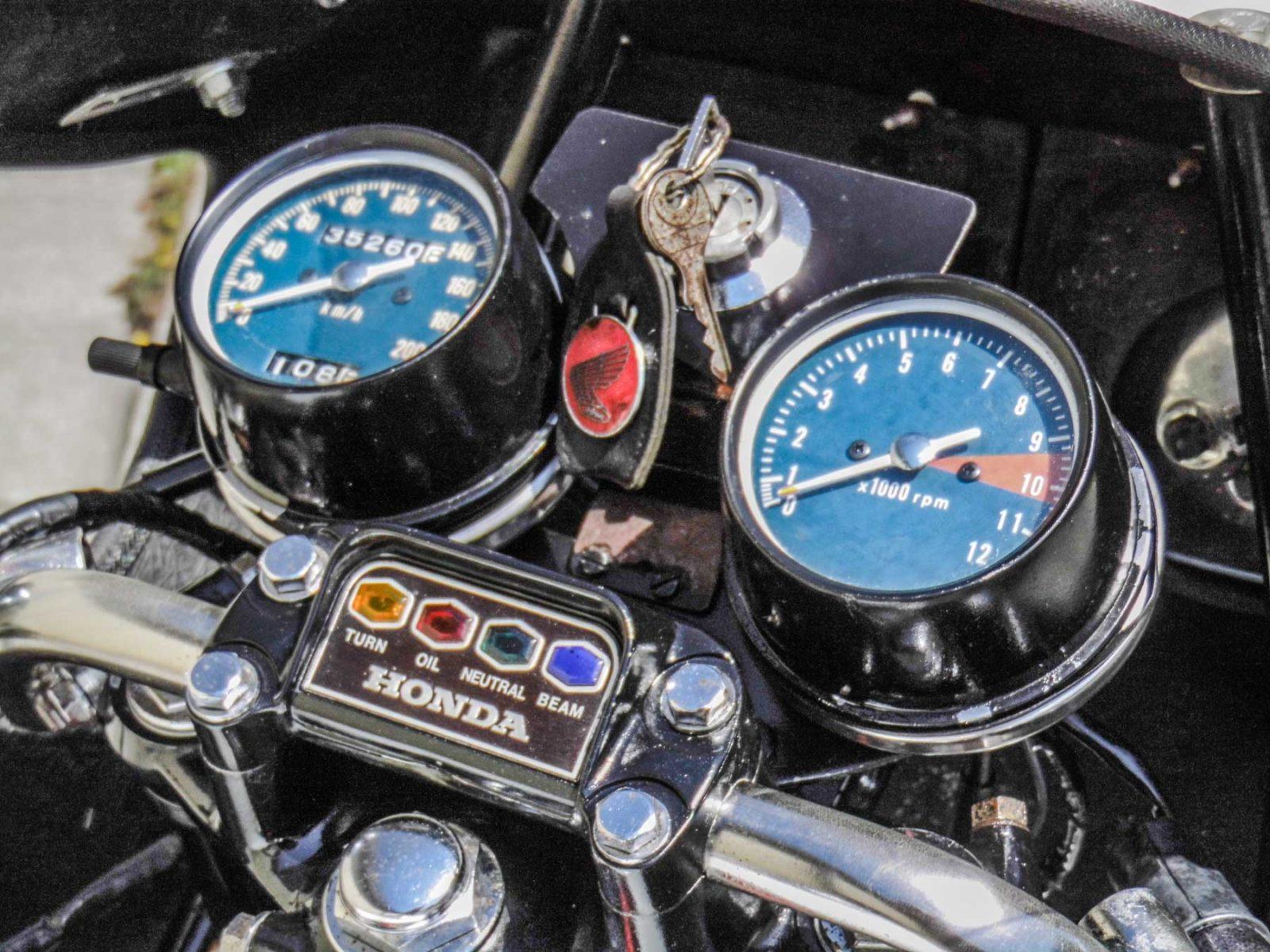 Honda CB 500 F cockpit