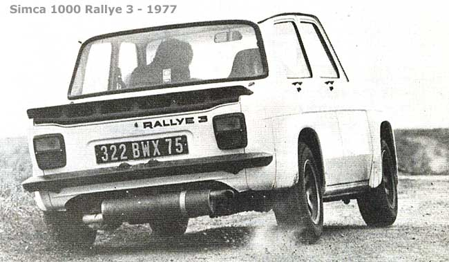 Simca 1000 Rallye 3-Archivierungsaktion