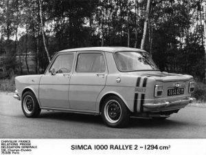 Simca 1000 Rallye 2 archief achterkant