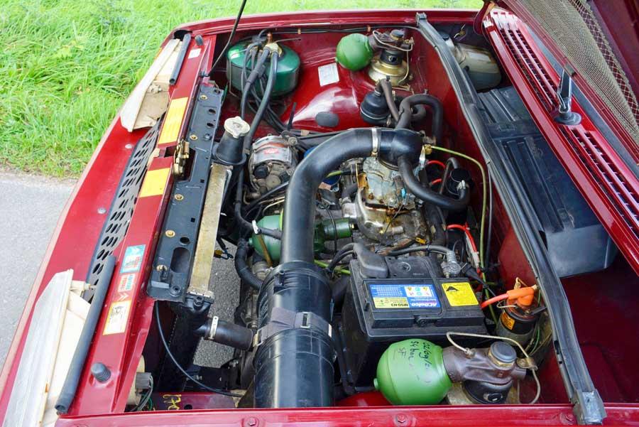 Citroën BX motorruimte