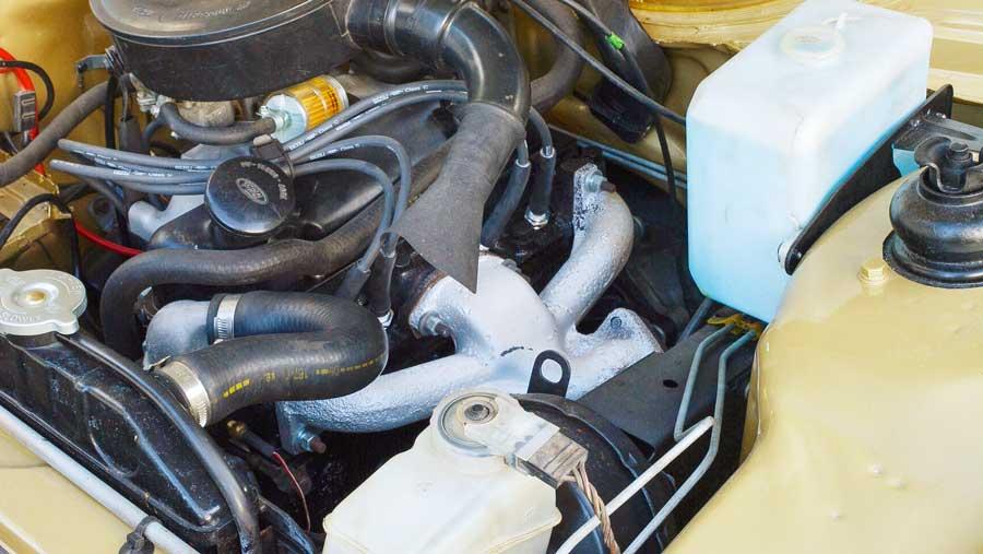 Ford Escort motorruimte