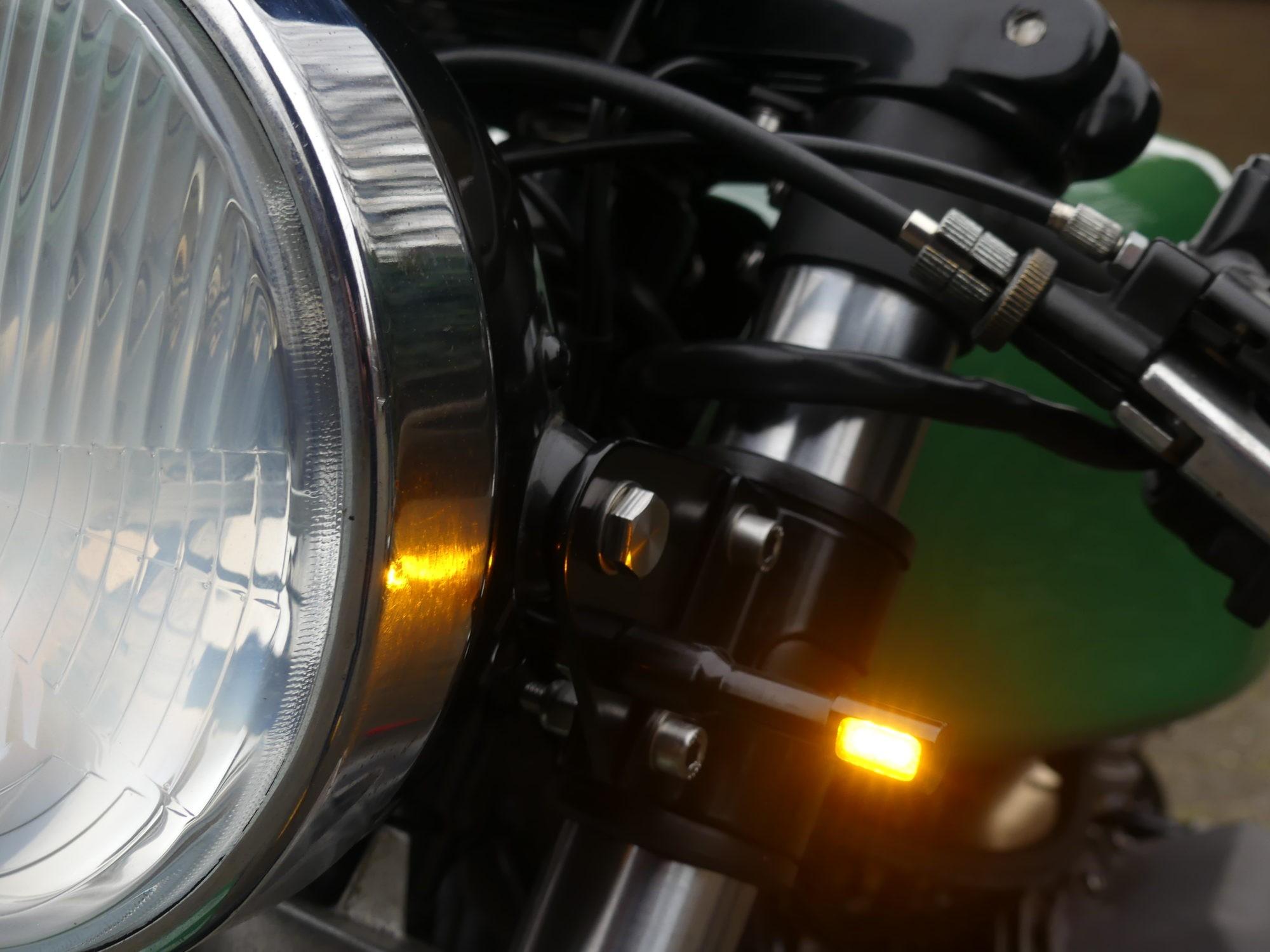 Moto Guzzi zelfbouw knipperlicht