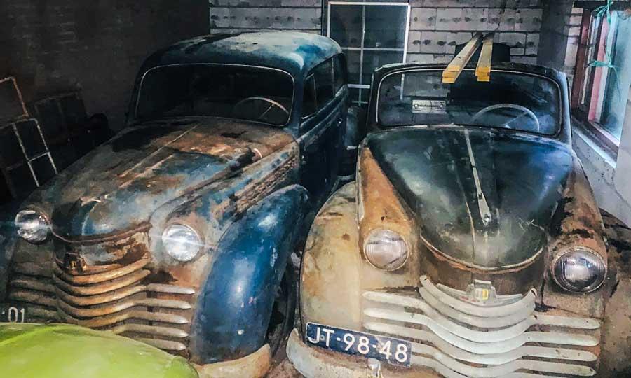 Opel Olympia in schuur