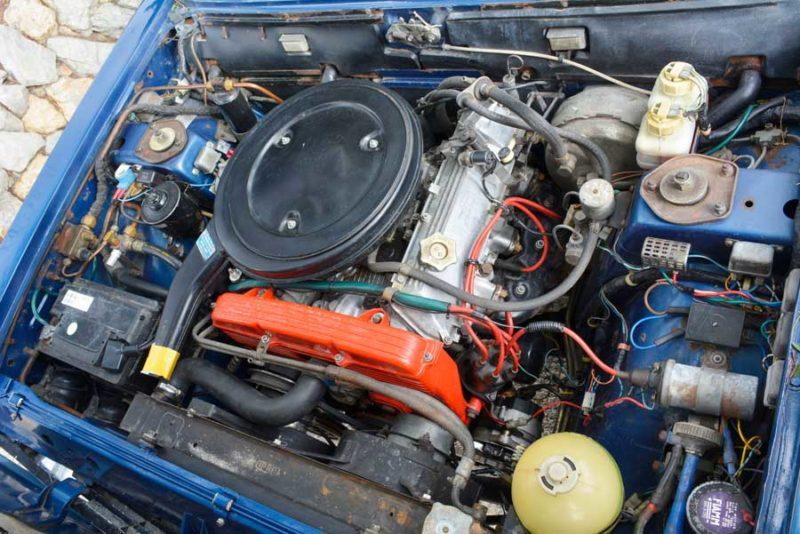 Fiat 130 motorruimte