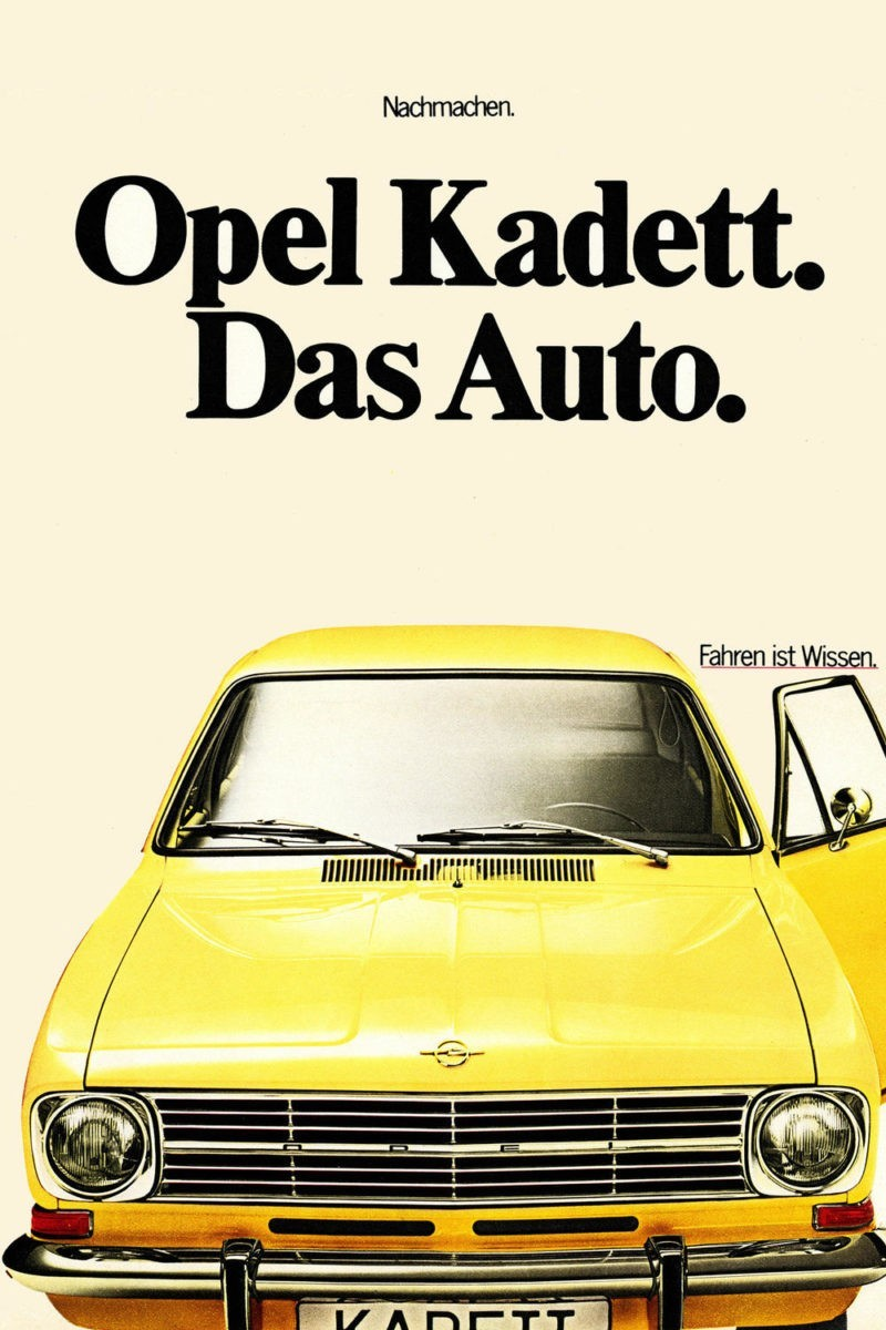 Opel B Kadett advertentie
