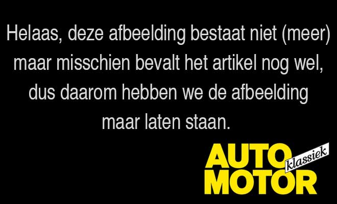 Augustusnummer Auto Motor Klassiek