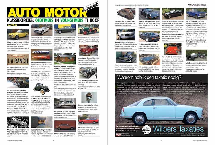 voitures anciennes à vendre