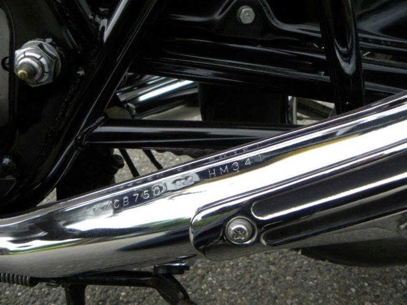 Honda CB 750 ontwateringsgaatje