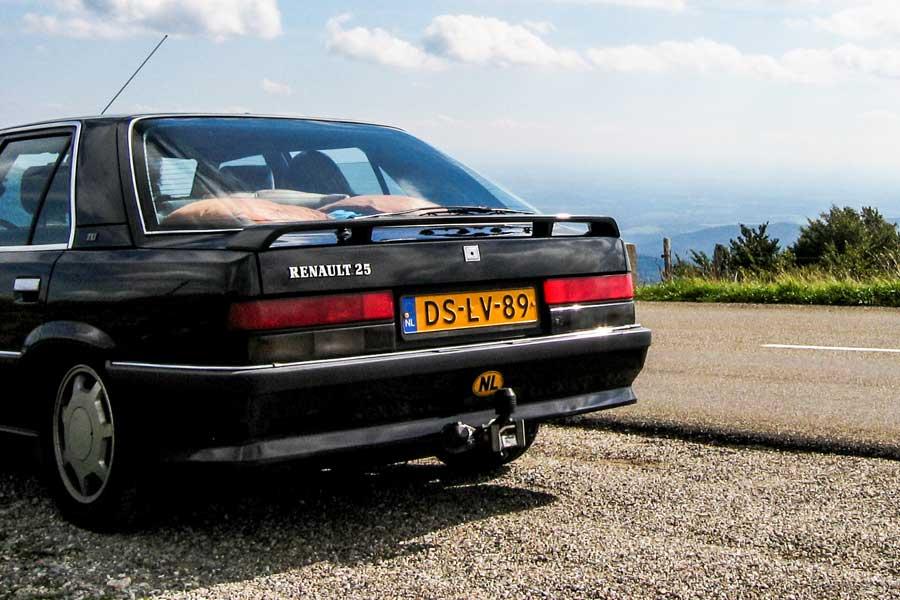 Renault 25 TXI achterkant