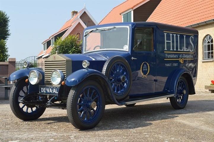 Oldtimer als auto van de zaak Rolls Royce de Vaal