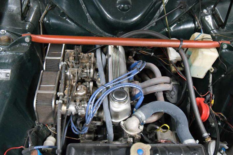 Ford Cortina MkI rallyuitvoering motor