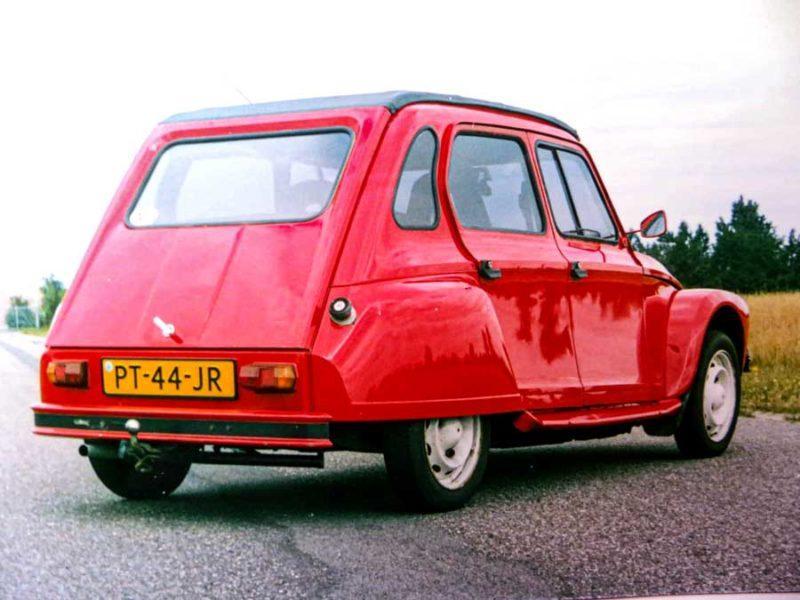Citroën Dyane met Ami super chassis en GSA X3 motor