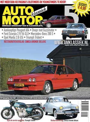 Opel Manta 2.0i GSi | Restauratieverslag- Simca Aronde Deluxe | Peugeot 604 | Mercedes-Benz 280 S | Triumph Trident | Ford Scorpio 2.9i V6 GLX | Dnepr met Guzzimotor