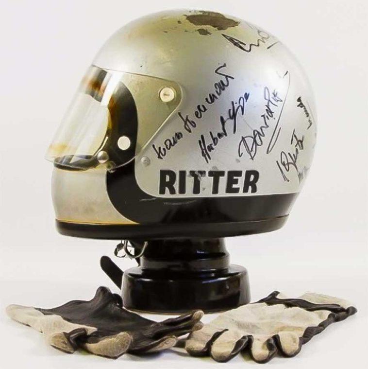 Le Mans Steve Mcqueen Helmet Fred Haltiner Johann Ritter