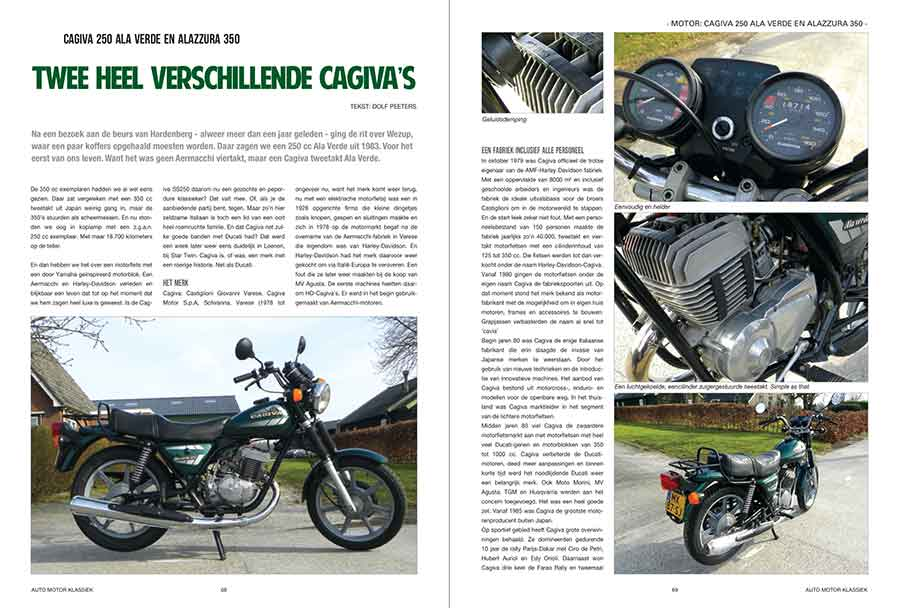 Cagiva 250 Ala Verde en Alazzura 350